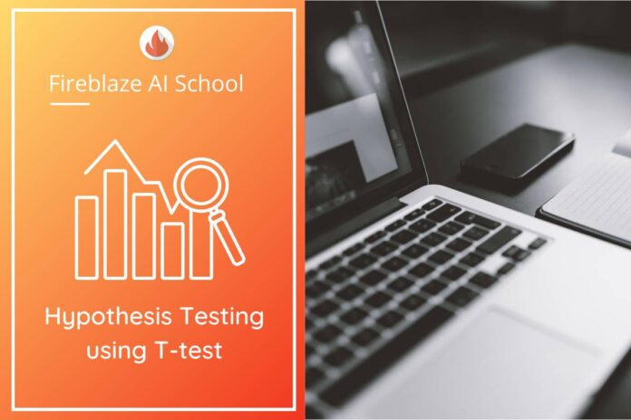 Hypothesis Testing using T-test